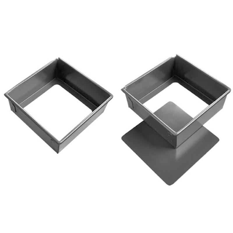 Molde rectangular para torta 10 Pulg fondo removible